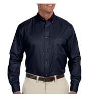 Custom Harriton Mens Tall Easy Blend Long-Sleeve Twill