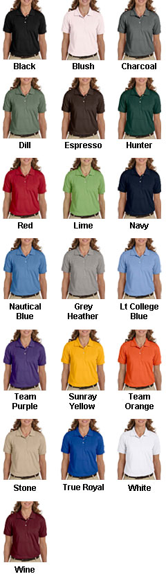 Harriton Ladies Easy Blend� Polo - All Colors