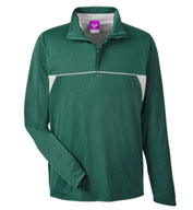 Custom Mens Excel Melange Interlock Performane Quarter-Zip Top
