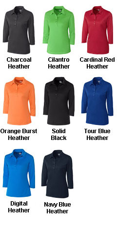 Ladies CB DryTec� 3/4 Sleeve Chelan Polo - All Colors