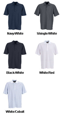 Greg Norman Play Dry Performance Striped Mesh Polo - All Colors