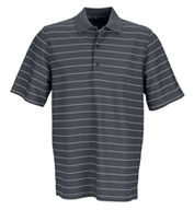 Custom Greg Norman Play Dry Performance Striped Mesh Polo