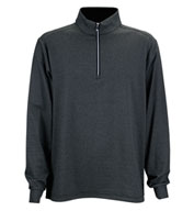 Custom Greg Norman Heathered Stripe 1/4-Zip Pullover