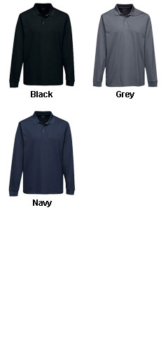 Adult Vital Long Sleeve Snap Polo - All Colors