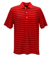 Custom Greg Norman Play Dry Aerated Weatherknit Stripe Polo