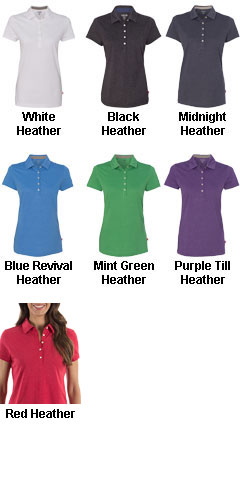IZOD Ladies Heather Jersey Sport Shirt - All Colors
