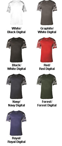 Digital Fitted Sport Tee - All Colors
