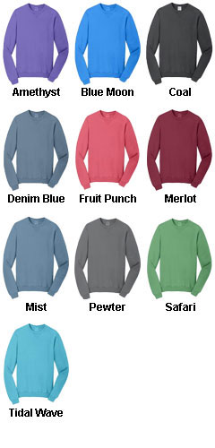 Essential Pigment-Dyed Crewneck Sweatshirt - All Colors