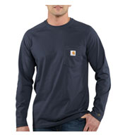Custom Carhartt Force Cotton Delmont Long Sleeve T-Shirt