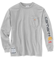 Custom Carhartt Flame-Resistant Force Cotton Graphic Long-Sleeve T-Shirt
