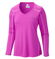 Ladies Columbia Zero Rules Long Sleeve V-Neck Tee