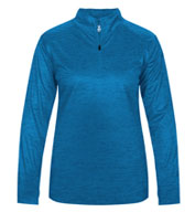 Ladies Tonal Blend 1/4 Zip  Pullover