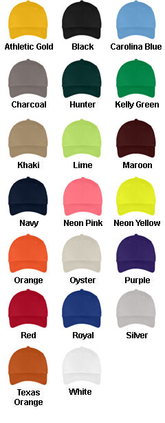 Six-Panel Twill Cap - All Colors