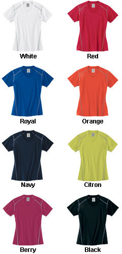 Ladies Contrast Stitch Short Sleeve Tee - All Colors