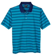 Brook Brothers Mens Varigated Stripe Jersey Short Sleeve Polo