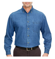 Custom Mens Tall Cypress Denim Shirt with Pocket