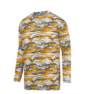 Youth Mod Camo Long Sleeve Wicking Tee