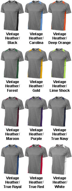 Heather Colorblock Contender� Tee - All Colors