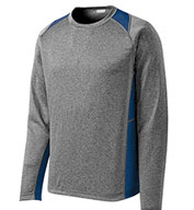 Custom Long Sleeve Heather Colorblock Contender� Tee
