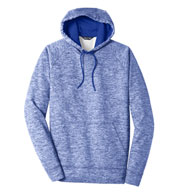 Custom Adult Sport-Tek PosiCharge Electric Heather Fleece Hooded Pullover