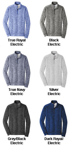 Adult Sport-Tek PosiCharge Electric Heather Fleece 1/4-Zip Pullover - All Colors