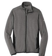 Custom Eddie Bauer Full-Zip Heather Stretch Fleece Jacket