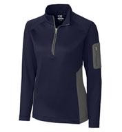 Custom Ladies Shaw Hybrid Half Zip
