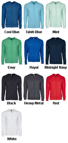 Next Level Unisex Sueded Full-Zip Hoodie - All Colors