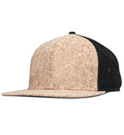 Structured Cork Square Flat Visor Trucker Cap