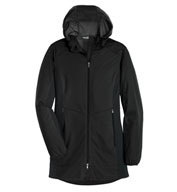 Custom Ladies Active Hooded Soft Shell Jacket