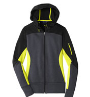 Ladies Tech Fleece Colorblock Hooded Jacket