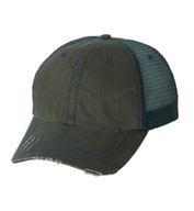 Herringbone Unstructured Trucker Cap