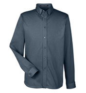 Mens Central Cotton Blend Melange Button Down