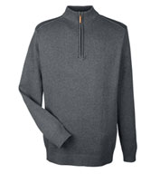 Custom Mens Manchester Fully-Fashioned 1/4-Zip Sweater