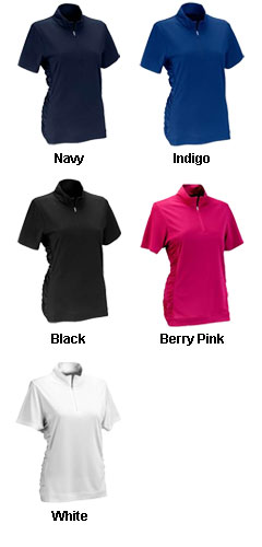 Womens Vansport™ Omega Ruched Polo - All Colors