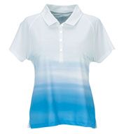 Custom Womens Vansport™ Pro Ombre Print Polo