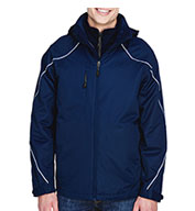 Custom Mens Angle 3-in-1 Jacket with Fleece Liner