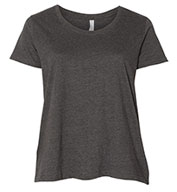 Ladies Curvy Fit Scoopneck Tee