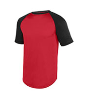 Youth Wicking Short Sleeve Baseball Jersey