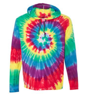 Custom Dyenomite Tie Dyed Hooded Pullover T-Shirt
