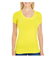 Custom Threadfast Apparel Ladies Spandex Short-Sleeve Scoop Neck T-Shirt
