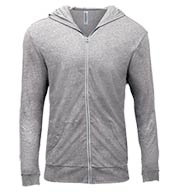 Custom Threadfast Apparel Mens Triblend Full-Zip Light Hoodie