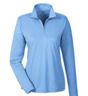 Ladies Cool & Dry Heathered Performance Quarter-Zip