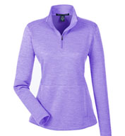 Custom Ladies NewburyMélange Fleece Quarter-Zip