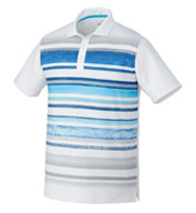 Custom Mens Puma Washed Striped Polo