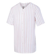 Adult Pinstripe Full Button Baseball Jersey
