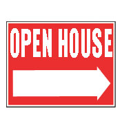 Custom Plastic Double-Sided Open House Sign