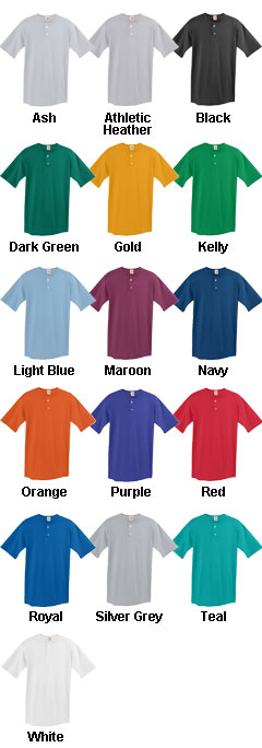 Adult Two-Button Baseball Jersey - All Colors