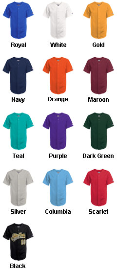 Adult Pro Weight 6-Button Baseball Jersey - All Colors
