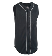 Adult Sleeveless Pro Weight 6-Button Baseball Jersey